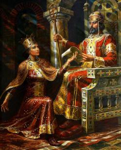 Цар Иван Асен II и царица Ирина - В. Горанов