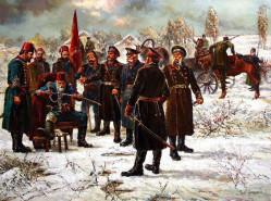 Осман паша предава сабята си на генерал Ганецки - В. Горанов