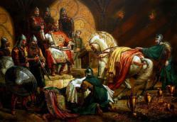 Цар Симеон Велики приема дарове от ромеите - В. Горанов